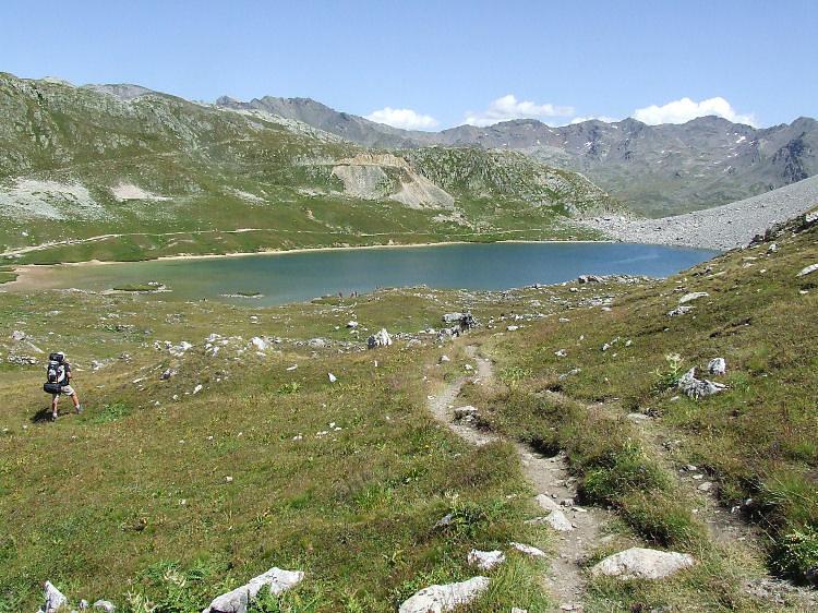 Le grand lac, lac des cerces, lac et col des Béraudes